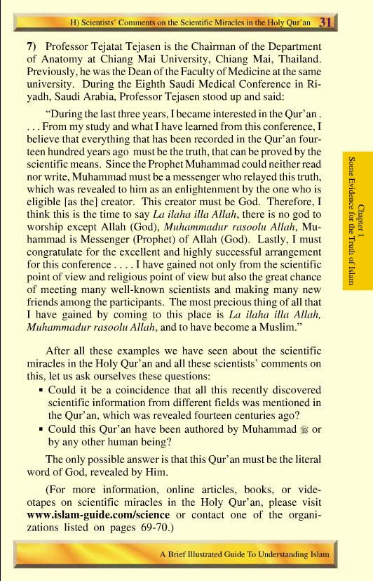 scientific miracles of the holy quran