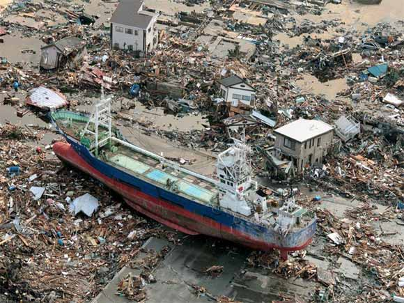 ship wrecked in japan