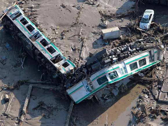 train wreckage