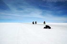 praying on snow